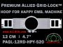 12 cm (4.7 inch) Round Premium Allied Grid-Lock Plastic Embroidery Hoop - Happy 520