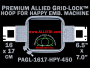 16 x 17 cm (6.5 x 7 inch) Rectangular Premium Allied Grid-Lock Plastic Embroidery Hoop - Happy 450