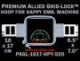 16 x 17 cm (6.5 x 7 inch) Rectangular Premium Allied Grid-Lock Plastic Embroidery Hoop - Happy 520