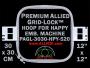 30 x 30 cm (12 x 12 inch) Square Premium Allied Grid-Lock Plastic Embroidery Hoop - Happy 520