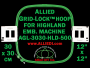 30 x 30 cm (12 x 12 inch) Square Allied Grid-Lock Plastic Embroidery Hoop - Highland 500 - Allied May Substitute this with Premium Version Hoop