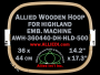 36.0 x 44.0 cm (14.2 x 17.3 inch) Rectangular Allied Wooden Embroidery Hoop, Double Height - Highland 500