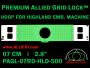 7 cm (2.8 inch) Round Premium Allied Grid-Lock Plastic Embroidery Hoop - Highland 500