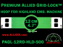 12 cm (4.7 inch) Round Premium Allied Grid-Lock Plastic Embroidery Hoop - Highland 500