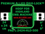 24 x 24 cm (9 x 9 inch) Square Premium Allied Grid-Lock Plastic Embroidery Hoop - Highland 500