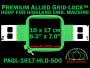 16 x 17 cm (6.5 x 7 inch) Rectangular Premium Allied Grid-Lock Plastic Embroidery Hoop - Highland 500