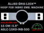 15 cm (5.9 inch) Round Allied Grid-Lock (New Design) Plastic Embroidery Hoop - Inbro 500