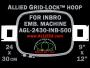 24 x 30 cm (9 x 12 inch) Rectangular Allied Grid-Lock Plastic Embroidery Hoop - Inbro 500