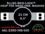 21 cm (8.3 inch) Round Allied Grid-Lock Plastic Embroidery Hoop - Inbro 500