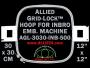 30 x 30 cm (12 x 12 inch) Square Allied Grid-Lock Plastic Embroidery Hoop - Inbro 500