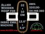 32.0 x 10.0 cm (12.6 x 3.9 inch) Rectangular Allied Wooden Embroidery Hoop, Double Height - Inbro 360