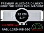 12 cm (4.7 inch) Round Premium Allied Grid-Lock Plastic Embroidery Hoop - Inbro 360