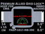 14 x 15 cm (5.5 x 6 inch) Rectangular Premium Allied Grid-Lock Plastic Embroidery Hoop - Inbro 360