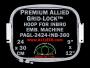 24 x 30 cm (9 x 12 inch) Rectangular Premium Allied Grid-Lock Plastic Embroidery Hoop - Inbro 360
