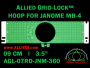 9 cm (3.5 inch) Round Allied Grid-Lock Plastic Embroidery Hoop - Janome 360