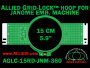 15 cm (5.9 inch) Round Allied Grid-Lock (New Design) Plastic Embroidery Hoop - Janome 360