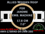 17.8 cm (7.0 inch) Round Allied Wooden Embroidery Hoop, Double Height - Janome 360