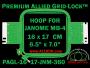 16 x 17 cm (6.5 x 7 inch) Rectangular Premium Allied Grid-Lock Plastic Embroidery Hoop - Janome 360
