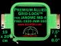 19 x 20 cm (7.5 x 8 inch) Rectangular Premium Allied Grid-Lock Plastic Embroidery Hoop - Janome 360