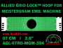 7 cm (2.8 inch) Round Allied Grid-Lock Plastic Embroidery Hoop - Meistergram 394