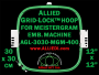 30 x 30 cm (12 x 12 inch) Square Allied Grid-Lock Plastic Embroidery Hoop - Meistergram 400 - Allied May Substitute this with Premium Version Hoop