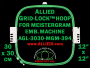 30 x 30 cm (12 x 12 inch) Square Allied Grid-Lock Plastic Embroidery Hoop - Meistergram 394 - Allied May Substitute this with Premium Version Hoop