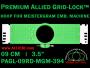 9 cm (3.5 inch) Round Allied Grid-Lock Plastic Embroidery Hoop - Meistergram 394