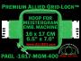 16 x 17 cm (6.5 x 7 inch) Rectangular Premium Allied Grid-Lock Plastic Embroidery Hoop - Meistergram 400