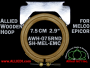 7.5 cm (2.9 inch) Round Single Height Allied Wooden Embroidery Hoop, Single Height - Melco Epicor (EMC) Flat Table