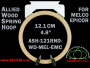 12.1 cm (4.8 inch) Round Single Height Allied Wooden Embroidery Hoop, Spring Load - Melco Epicor (EMC) Flat Table
