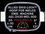 24 x 30 cm (9 x 12 inch) Rectangular Allied Grid-Lock Plastic Embroidery Hoop - Melco 400