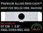 7 cm (2.8 inch) Round Premium Allied Grid-Lock Plastic Embroidery Hoop - Melco 400