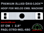 7 cm (2.8 inch) Round Premium Allied Grid-Lock Plastic Embroidery Hoop - Melco 480