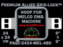 Melco 24 x 24 cm (9 x 9 inch) Square Premium Allied Grid-Lock Embroidery Hoop for 480 mm Sew Field / Arm Spacing