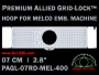 Melco 7 cm (2.8 inch) Round Premium Allied Grid-Lock Embroidery Hoop for 400 mm Sew Field / Arm Spacing