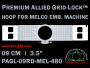 Melco 9 cm (3.5 inch) Round Premium Allied Grid-Lock Embroidery Hoop for 480 mm Sew Field / Arm Spacing