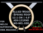 12.1 cm (4.8 inch) Round Allied Wooden Embroidery Hoop, Spring Load - Melco Superstar (SSR) Flat Table