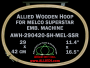 29.0 x 42.0 cm (11.4 x 16.5 inch) Oval Allied Wooden Embroidery Hoop, Double Height - Melco Superstar (SSR) Flat Table