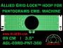 9 cm (3.5 inch) Round Allied Grid-Lock Plastic Embroidery Hoop - Pantograms 360