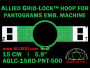 15 cm (5.9 inch) Round Allied Grid-Lock (New Design) Plastic Embroidery Hoop - Pantograms 500