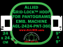 24 x 24 cm (9 x 9 inch) Square Allied Grid-Lock Plastic Embroidery Hoop - Pantograms 360
