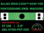 7 cm (2.8 inch) Round Allied Grid-Lock Plastic Embroidery Hoop - Pantograms 500