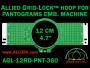 12 cm (4.7 inch) Round Allied Grid-Lock (New Design) Plastic Embroidery Hoop - Pantograms 360