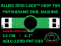 12 cm (4.7 inch) Round Allied Grid-Lock (New Design) Plastic Embroidery Hoop - Pantograms 500