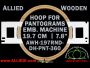 19.7 cm (7.8 inch) Round Allied Wooden Embroidery Hoop, Double Height - Pantograms 360