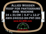 24.0 x 31.0 cm (9.4 x 12.2 inch) Rectangular Allied Wooden Embroidery Hoop, Double Height - Pantograms 360