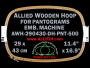 29.0 x 43.0 cm (11.4 x 16.9 inch) Rectangular Allied Wooden Embroidery Hoop, Double Height - Pantograms 500
