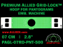 7 cm (2.8 inch) Round Premium Allied Grid-Lock Plastic Embroidery Hoop - Pantograms 500