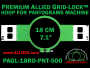 18 cm (7.1 inch) Round Premium Allied Grid-Lock Plastic Embroidery Hoop - Pantograms 500