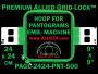 24 x 24 cm (9 x 9 inch) Square Premium Allied Grid-Lock Plastic Embroidery Hoop - Pantograms 500